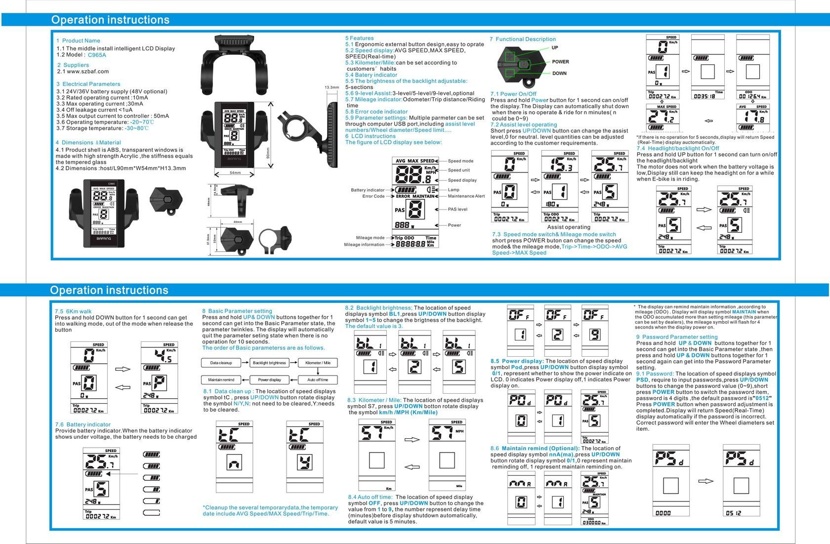 Bafang bbs02 manual