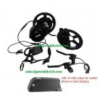 8FUN BBS01 36V250W mid crank kit with 36V Panasonic frame battery with 5V USB output