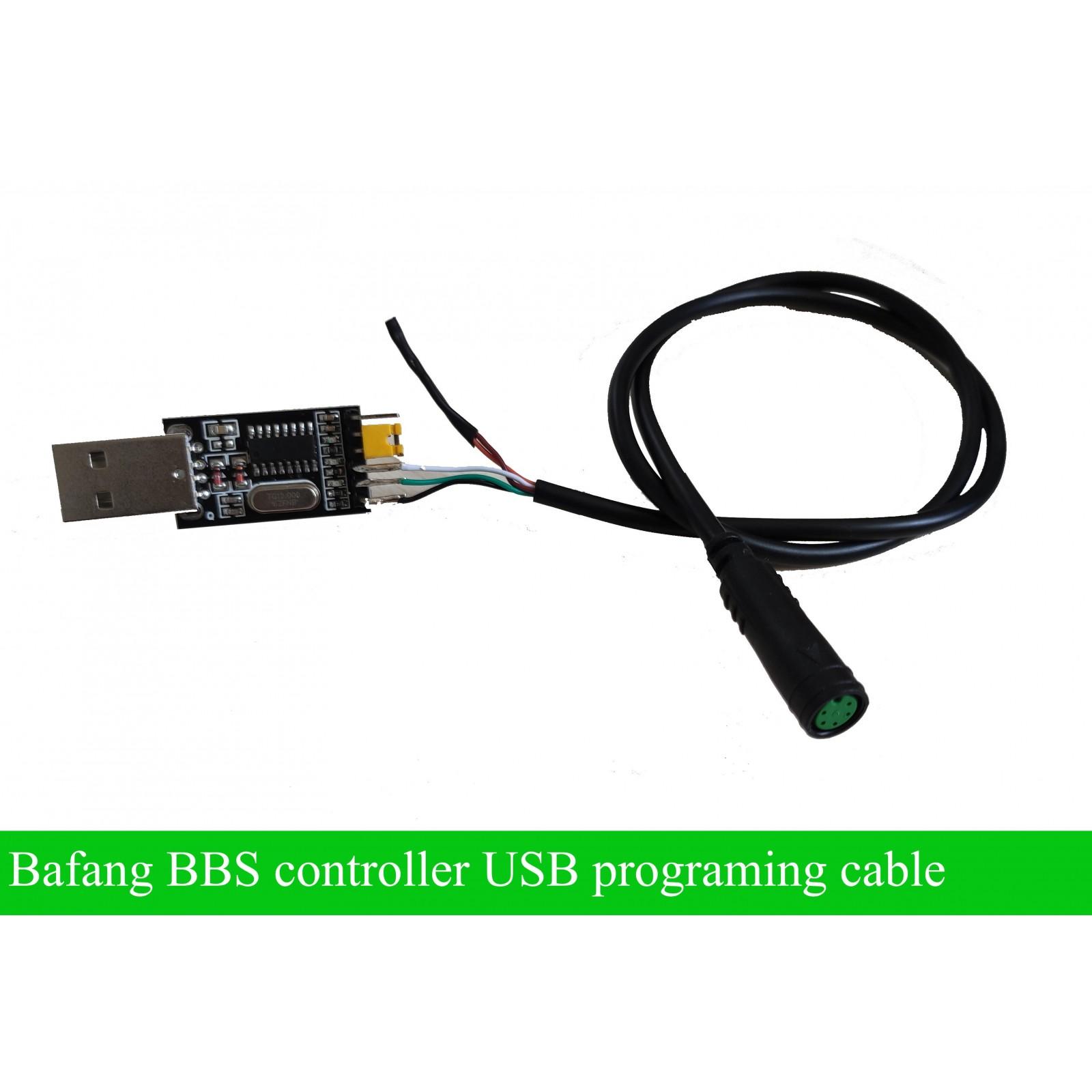 Ebike USB Programming Cable for Bafang Central Motor BBS01 BBS02 E-Bike Motor Kits