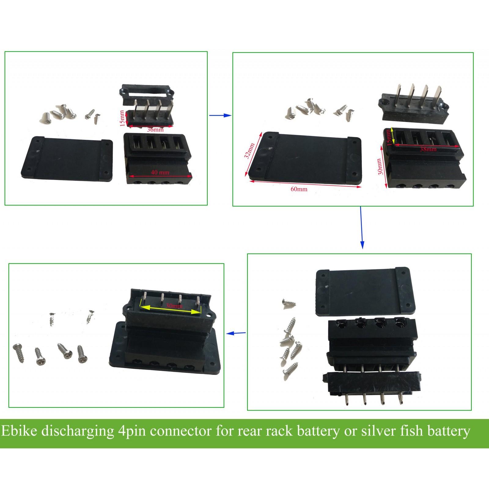 Silver Fish Battery case Power Lock /& Key Ebike Parts Silver Fish Case Lock