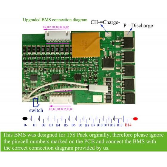 14S-30A-52V-Jumboshark-battery-BMS-connection-diagram