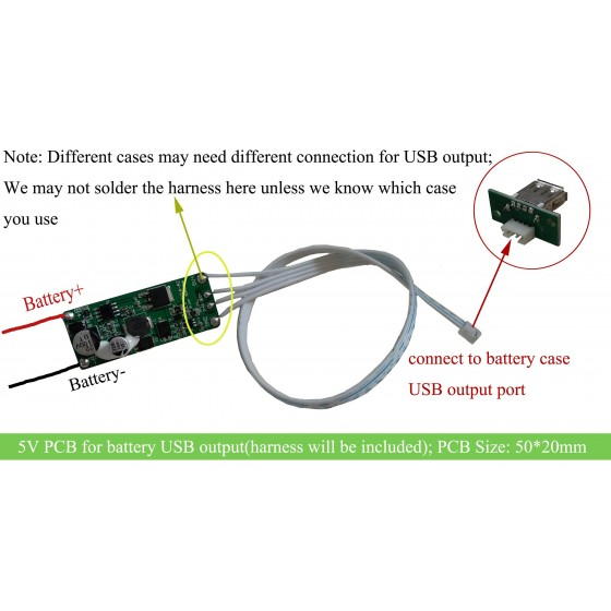 5V Decompression PCB for Hailong/tigershark/downtube battery USB output