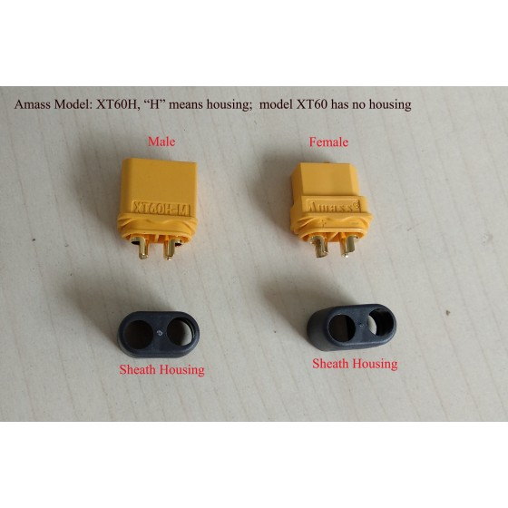 Amass-xt60-rc-battery-motor-connector
