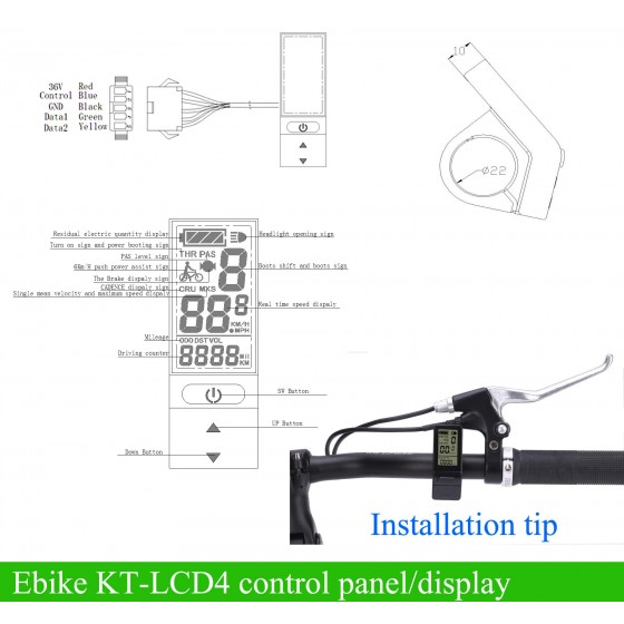 Kunteng-KT-compact-LCD4-control-panel-display-meter