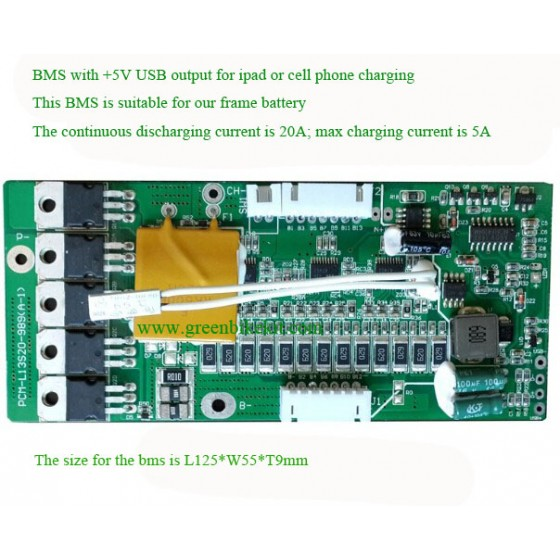 36v-10s-li-ion-dolphin-frame-battery-bms-with-5v-usb-output