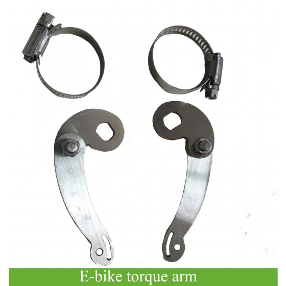 Torque Arm for mounting on electric bicycle fork