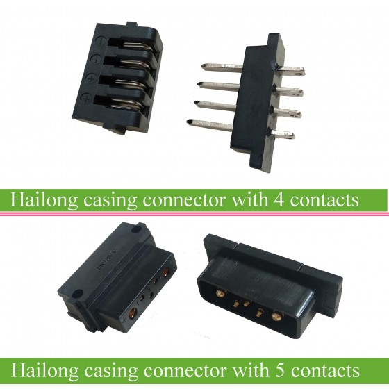 Hailong-casing-battery-discharging-connector-4-pins-5-pins