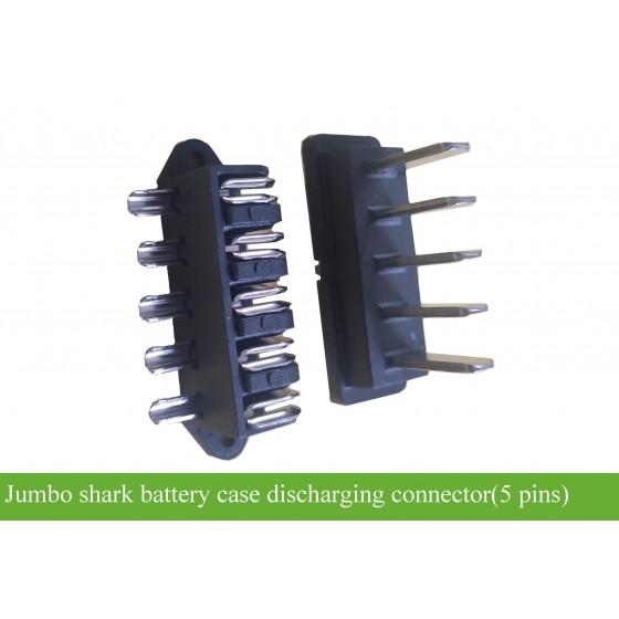 Jumboshark-casing-battery-discharging-plug-5-pins-socket