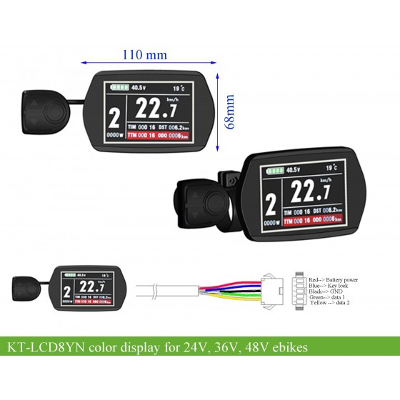 KT-Ebike-controller-color-display-LCD8YN