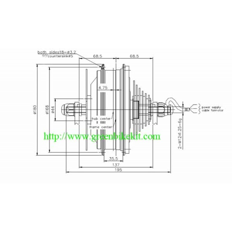 hub motor  bike motor  brushless motor for electric bike