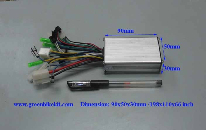 250watts 36v 6 mosfets brushless controller for e bike for 36v dc motor controller
