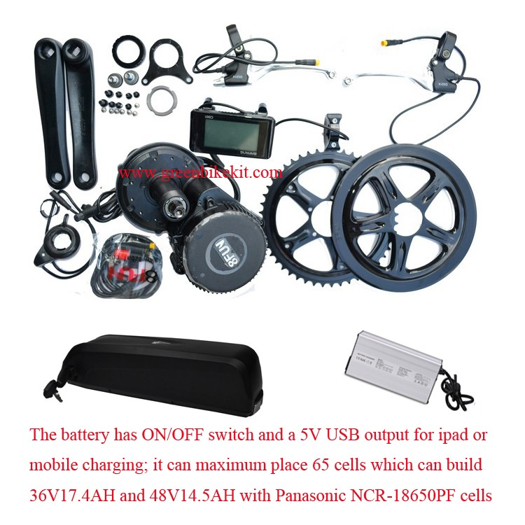 bafang-8fun-bbs01-kits-and-36v-17ah-panasonic-dolphin-battery-with-5v-usb-charger