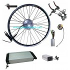 GBK-100F 36V250W~350W e-bike front driving kit with 36V11.6AH li-ion rear rack battery and charger