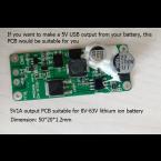 5V USB output PCB for 8V-63V Lithium batteries