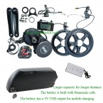 BBS01B kit 36V250W with shark frame battery(DS-6 casing) with premium cells