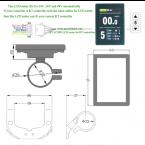 ebike Kunteng LCD ktLCD8S 24V 36V 48V control panel LCD display for electric bike controller