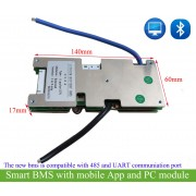 intelligent lithium battery bluetooth bms for 11S/12S/13S/14S/15S