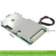 intelligent lithium battery bluetooth bms for 11S/12S/13S