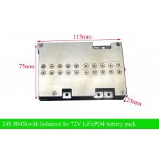 72V BMS/24S PCM for LiFePO4 battery pack with 30a/50A large current