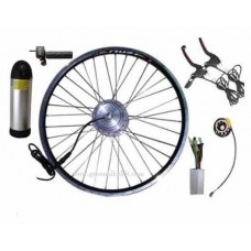 24V250W~350W GBK-100F front driving electric bike kit with 24V11.6AH  bottle battery and charger