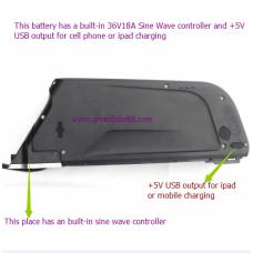 36V11.6AH or 36V14.5AH frame battery with built-in sine wave controller