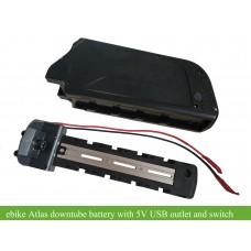 Bafang BBS01B 36V250W kit with 36V Atlas frame battery with 5V USB output(DA-5C)
