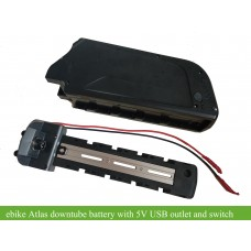 36V 13.4AH/16.75Ah E-bike li-ion Atlas frame battery with 5V USB output(DA-5C)