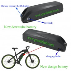 E-bike 36V lithium ion down tube battery with larger power(HL-1 casing)