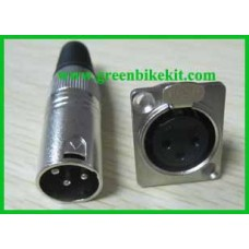 XLR, Neutrik, XLR connector, kanong connector, male/female for lithium battery or charger