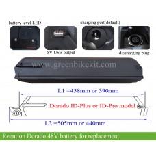 Dorado battery 48V 12.8AH 14AH 16AH 17.5AH 19AH 21AH (614wh -1008wh) for 1000W ~1800W ebikes