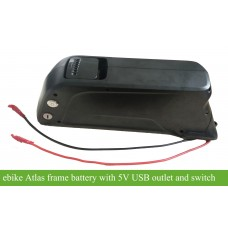 E-bike 48V13.4Ah Li-ion Atlas frame battery with 5V USB output(DA-5C casing)