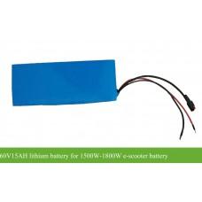 60V15AH(17S3P) 990WH e-scooter battery with 30A BMS for 1500W-1800W e-motorcycle