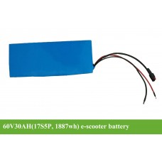 60V escooter battery 30AH (17S6P) 1887WH with 50A BMS
