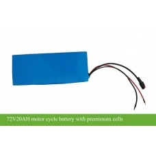 72V20AH 1440WH electric motorcycle battery for 2000W/2500W