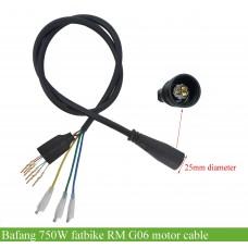 Motor cable for Bafang 750W fatbike/snow bike hub motor