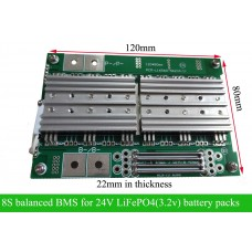 24V 30A 50A 8S balanced BMS/8S for LiFePO4 battery pack with large current