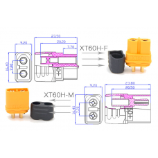 Amass XT60H connector for battery or RC with larger current