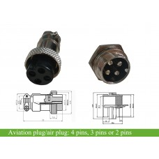 Air plug/aviation plug 3 pin/ 4 pin for option