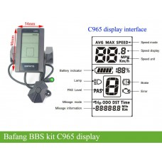 Bafang bbs01/bbs02/bbshd kit LCD display C961/C965/DPC18 display