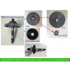Bafang  bbs01B/bbs02B kit mid axle assembly/steel redunction gear set for replacement(available on March)