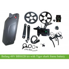 48V Bafang BBS02B kit with 48V/52V tiger shark frame battery(DS-6) with 5V USB output