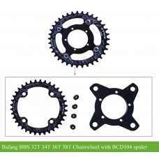 Bafang BBS01B/BBS02B small chainwheel 32T/34T/36T/38T(fit for BCD104)