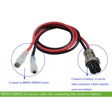 Controller power cable for ebike battery or controller