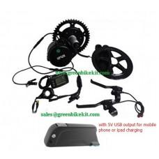 8FUN BBS02B central driven kit 48V500W with 48V10AH Samsung frame battery
