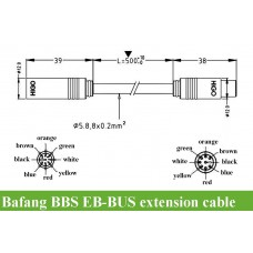 Bafang BBS EB-BUS 1T4 extension cable