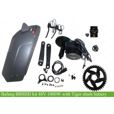 Bafang BBSHD 48V 1000W kit with 48V tiger shark frame battery