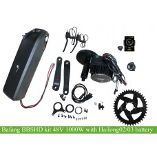 Bafang BBSHD 48V 1000W kit with 48V or 52V Hailong02 downtube battery