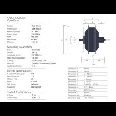 Bafang fatbike motor RM G06(cassette type) 48V 350W/500W/750W