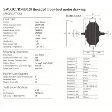 500W/750W Bafang rear hub motor SWX02 /RM G020