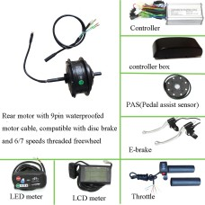 Bafang SWXH 36V 250W rear driving kit without rim and spokes